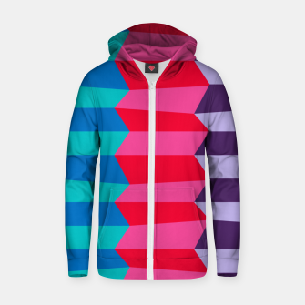 Thumbnail image of Retro Stripes Zip up hoodie, Live Heroes
