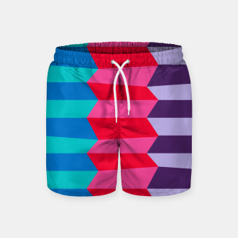 Thumbnail image of Retro Stripes Swim Shorts, Live Heroes