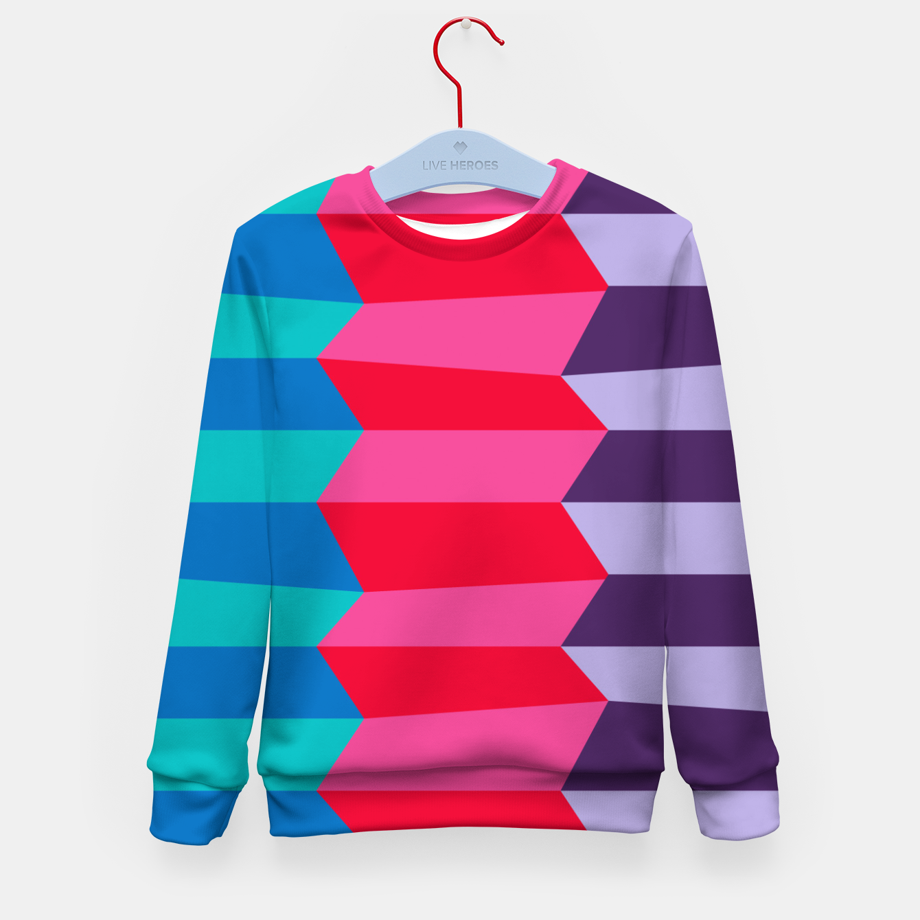 Image of Retro Stripes Kid's sweater - Live Heroes