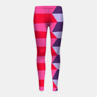 Thumbnail image of Retro Stripes Girl's leggings, Live Heroes