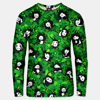 Thumbnail image of Panda Lover Giant Pandas Jungle Leaf Animal Wildlife Pattern Unisex sweater, Live Heroes