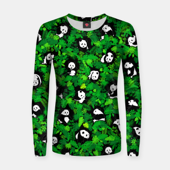 Thumbnail image of Panda Lover Giant Pandas Jungle Leaf Animal Wildlife Pattern Women sweater, Live Heroes