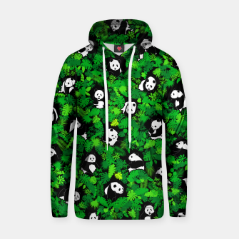 Thumbnail image of Panda Lover Giant Pandas Jungle Leaf Animal Wildlife Pattern Hoodie, Live Heroes