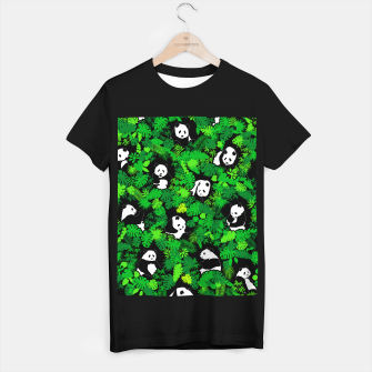 Thumbnail image of Panda Lover Giant Pandas Jungle Leaf Animal Wildlife Pattern T-shirt regular, Live Heroes