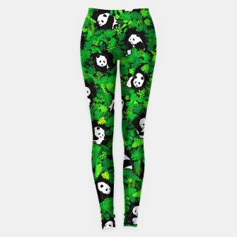Miniaturka Panda Lover Giant Pandas Jungle Leaf Animal Wildlife Pattern Leggings, Live Heroes