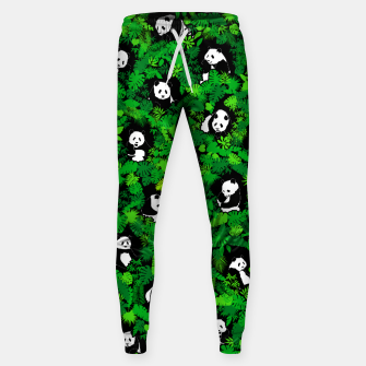 Miniaturka Panda Lover Giant Pandas Jungle Leaf Animal Wildlife Pattern Sweatpants, Live Heroes
