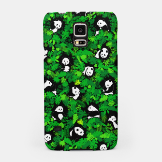Imagen en miniatura de Panda Lover Giant Pandas Jungle Leaf Animal Wildlife Pattern Samsung Case, Live Heroes