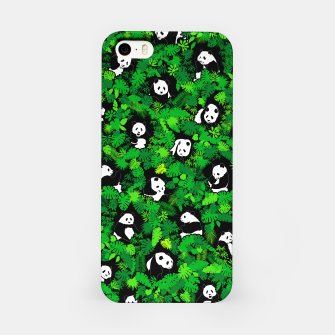 Miniaturka Panda Lover Giant Pandas Jungle Leaf Animal Wildlife Pattern iPhone Case, Live Heroes