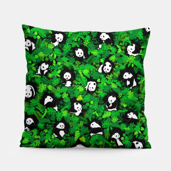 Miniaturka Panda Lover Giant Pandas Jungle Leaf Animal Wildlife Pattern Pillow, Live Heroes