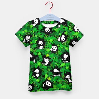 Miniaturka Panda Lover Giant Pandas Jungle Leaf Animal Wildlife Pattern Kid's t-shirt, Live Heroes