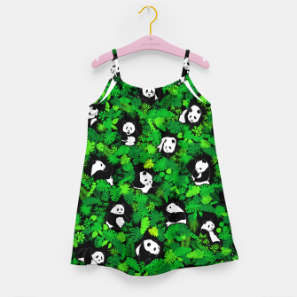 Miniaturka Panda Lover Giant Pandas Jungle Leaf Animal Wildlife Pattern Girl's dress, Live Heroes