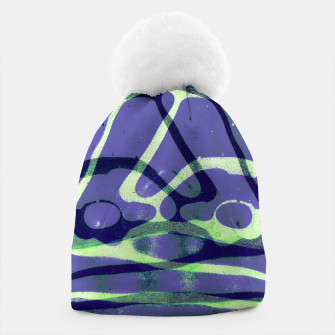 Thumbnail image of Frozen Puddle Design in Purple Beanie, Live Heroes