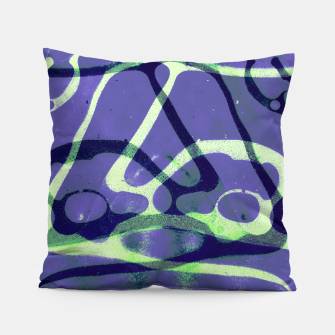 Thumbnail image of Frozen Puddle Design in Purple Pillow, Live Heroes