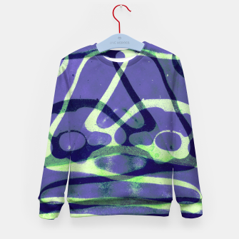 Thumbnail image of Frozen Puddle Design in Purple Kid's sweater, Live Heroes