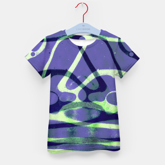 Thumbnail image of Frozen Puddle Design in Purple Kid's t-shirt, Live Heroes