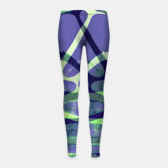 Thumbnail image of Frozen Puddle Design in Purple Girl's leggings, Live Heroes