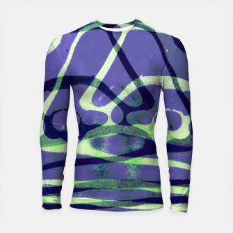 Thumbnail image of Frozen Puddle Design in Purple Longsleeve rashguard , Live Heroes