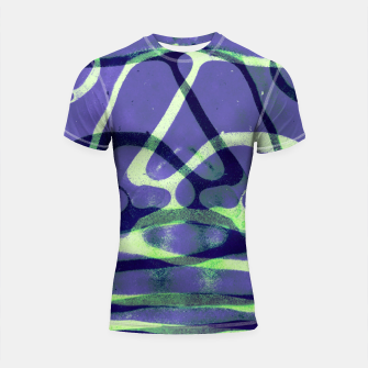 Thumbnail image of Frozen Puddle Design in Purple Shortsleeve rashguard, Live Heroes
