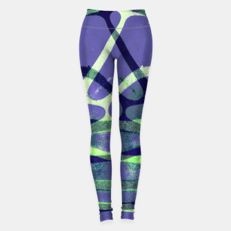 Thumbnail image of Frozen Puddle Design in Purple Leggings, Live Heroes