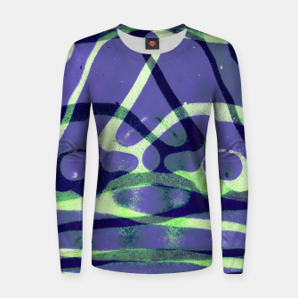 Thumbnail image of Frozen Puddle Design in Purple Women sweater, Live Heroes
