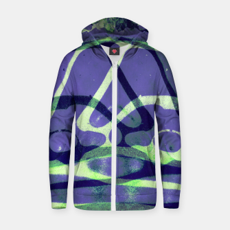 Thumbnail image of Frozen Puddle Design in Purple Zip up hoodie, Live Heroes