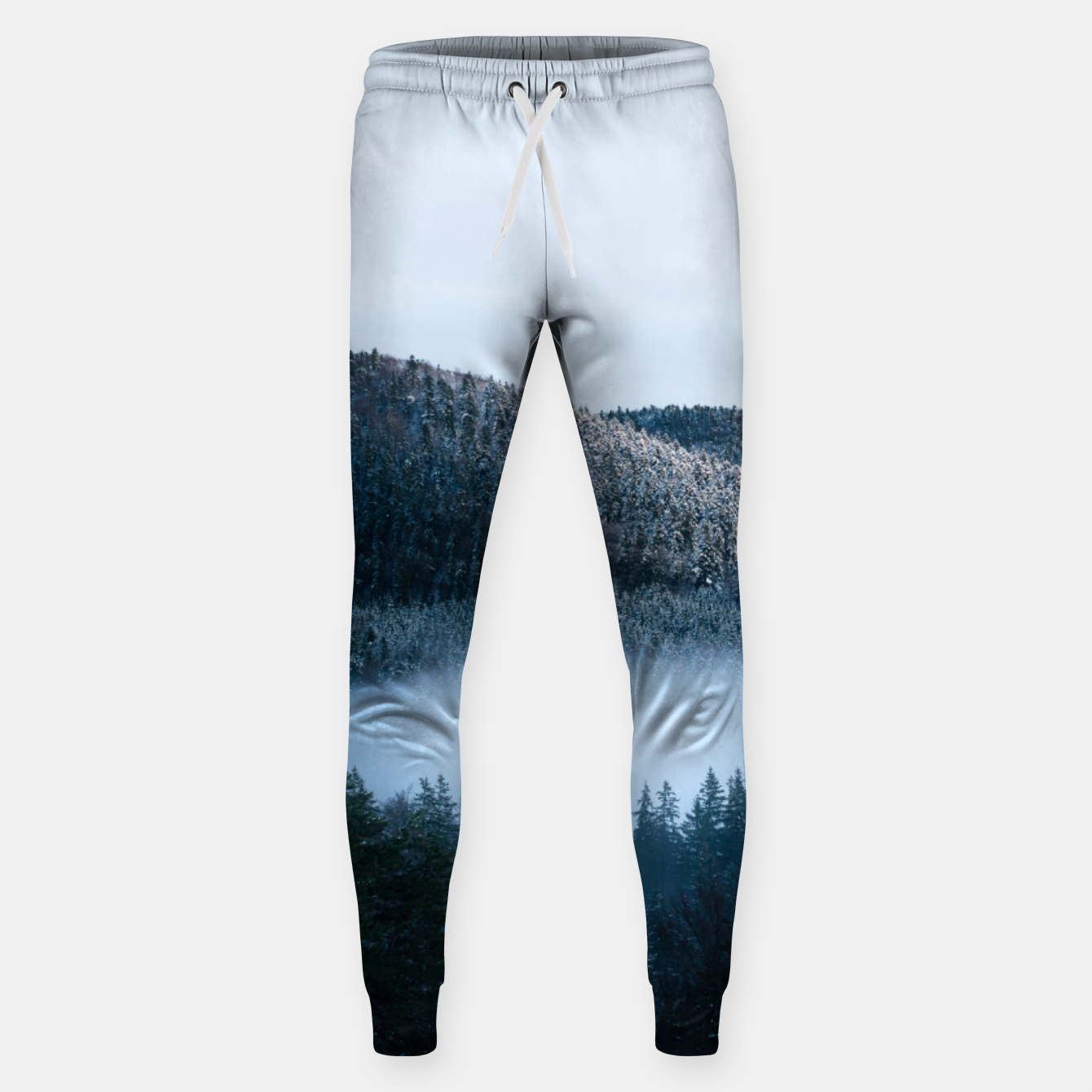 Foto Mysterious fog trapped in winter spruce forest Sweatpants - Live Heroes