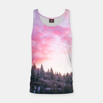 Miniatur Magical bright pink sunset above snowy forest Tank Top, Live Heroes