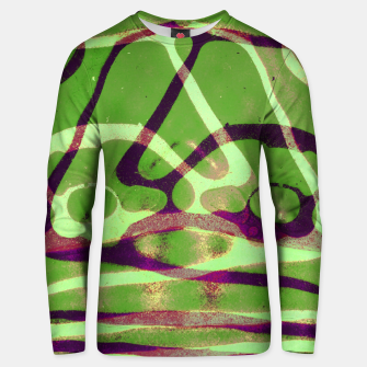 Thumbnail image of Abstract Frozen in Green Unisex sweater, Live Heroes