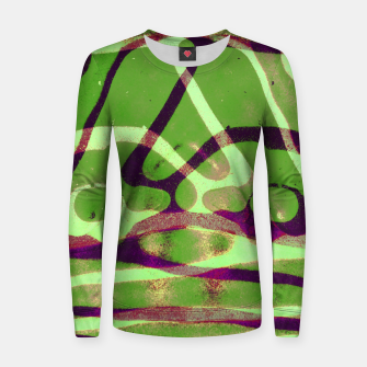 Thumbnail image of Abstract Frozen in Green Women sweater, Live Heroes