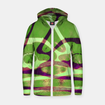 Thumbnail image of Abstract Frozen in Green Zip up hoodie, Live Heroes