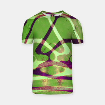 Thumbnail image of Abstract Frozen in Green T-shirt, Live Heroes
