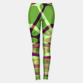 Thumbnail image of Abstract Frozen in Green Leggings, Live Heroes