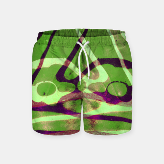 Thumbnail image of Abstract Frozen in Green Swim Shorts, Live Heroes