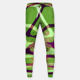 Thumbnail image of Abstract Frozen in Green Sweatpants, Live Heroes
