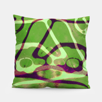 Thumbnail image of Abstract Frozen in Green Pillow, Live Heroes