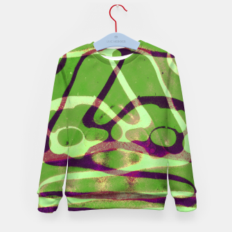 Thumbnail image of Abstract Frozen in Green Kid's sweater, Live Heroes
