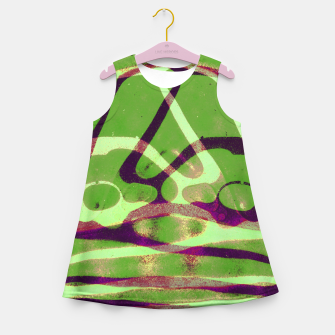 Thumbnail image of Abstract Frozen in Green Girl's summer dress, Live Heroes
