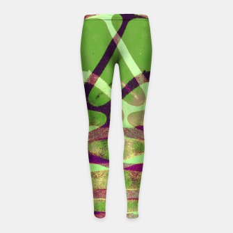 Thumbnail image of Abstract Frozen in Green Girl's leggings, Live Heroes