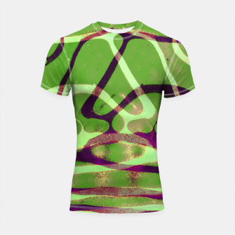 Thumbnail image of Abstract Frozen in Green Shortsleeve rashguard, Live Heroes