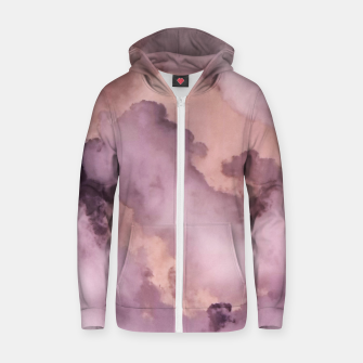 Thumbnail image of Pink Clouds Zip up hoodie, Live Heroes