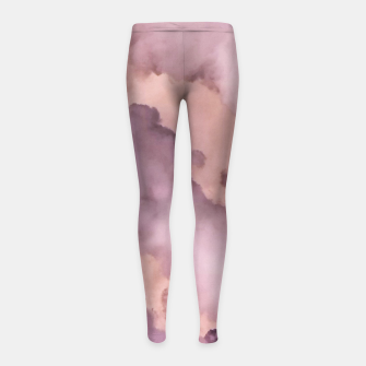 Thumbnail image of Pink Clouds Girl's leggings, Live Heroes