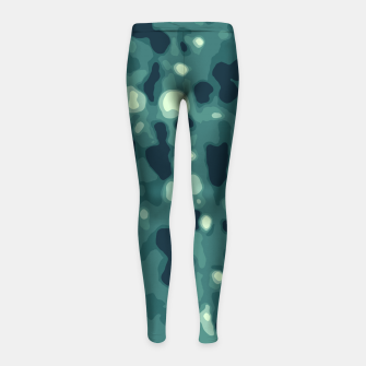 Thumbnail image of Abstract Texture Surface Print Girl's leggings, Live Heroes