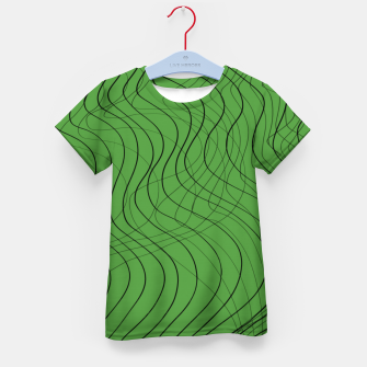 Thumbnail image of Green Waves Lines Kid's t-shirt, Live Heroes