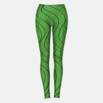 Thumbnail image of Green Waves Lines Leggings, Live Heroes