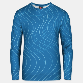 Thumbnail image of Blue Waves Lines  Unisex sweater, Live Heroes