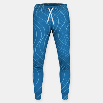 Thumbnail image of Blue Waves Lines  Sweatpants, Live Heroes