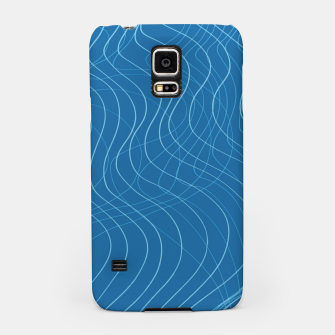 Thumbnail image of Blue Waves Lines  Samsung Case, Live Heroes