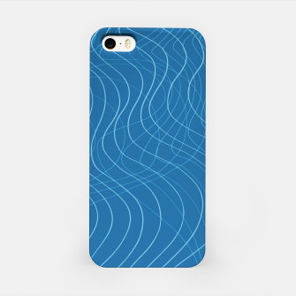 Thumbnail image of Blue Waves Lines  iPhone Case, Live Heroes