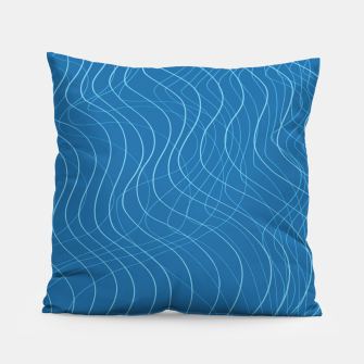 Thumbnail image of Blue Waves Lines  Pillow, Live Heroes