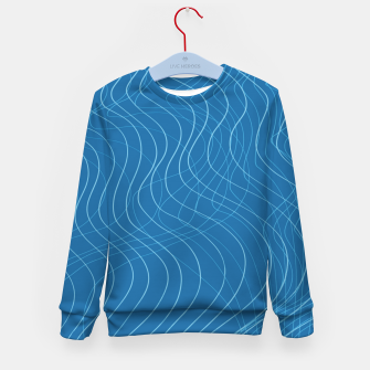Thumbnail image of Blue Waves Lines  Kid's sweater, Live Heroes